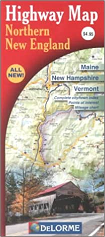 Northern New England Street Map: Main, New Hampshire, Vermont ...
