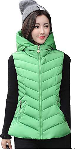 住所難破船宙返りAlhyla ダウンベスト レディース 冬 秋 ファッション 韓国風 スリム ベスト 中綿 ベスト フード付き 無地 ダウンベスト
