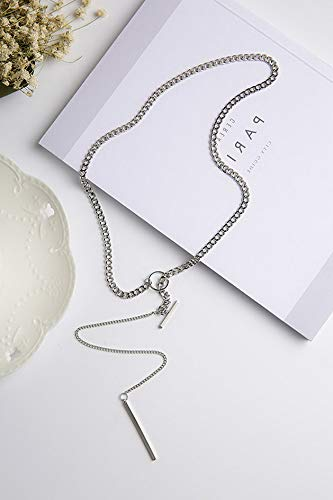 Mikash Fashion Simple Sweater Long Chain Charm Pendants Necklaces Women Gifts Jewelry   Model NCKLCS - 38109   ()