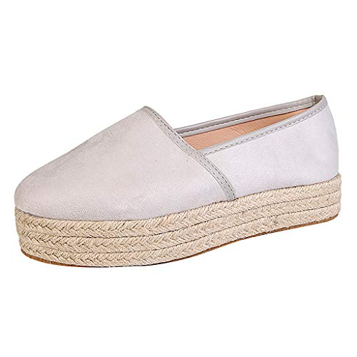 TOOPOOT Summer Shoes for Women, Ladies Casual Roman Plus-Size Wedges Casual Solid Pumps Shoes White ()