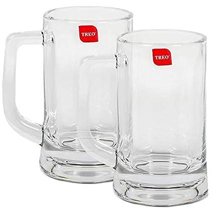 Treo By Milton Munich Cool Beer Mug Set, 359ml, Set of 2, Transparent Glassware & Drinkware at amazon