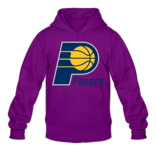 Show Time Men's Indiana Logo Pacers Vintage Sweatshirt Purple XL ()