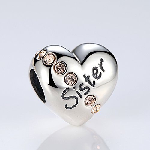Everbling Family and Love Family Members Mom Dad Daughter 925 Sterling Silver Charm Fits European Charm Bracelet