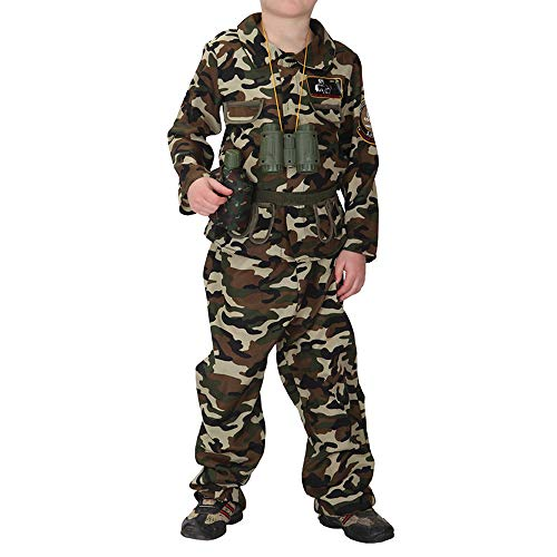 Kids Special Forces Costume Boys Army Uniform Child Halloween Hunting Cosplay Soldier Camo Camouflage Fancy Dress Outfit (Boys Army, XL)
