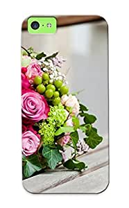 meilinF000New Arrival Premium Iphone 5c Case Cover With Appearance (pink And Green Bouquet)meilinF000