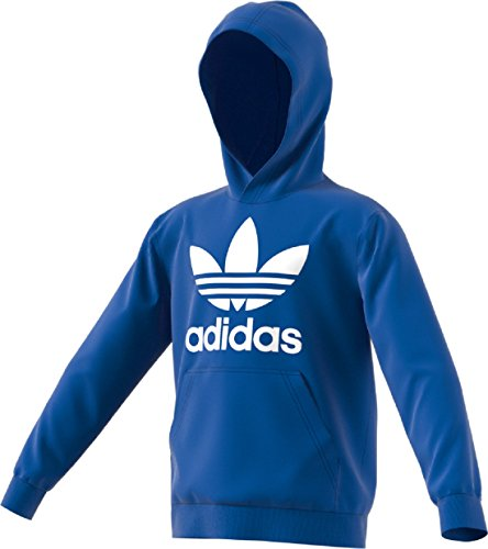 Free Kids Sweatshirt - adidas Originals Big Kids Originals Trefoil Hoodie, Blue/White, L