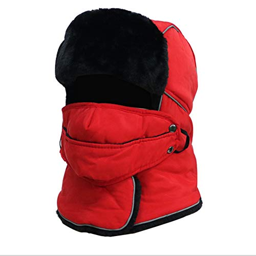 con Red Gorro Polar De De Interior Invierno Forro Beanie TZTED Pink Punto Fino Templado Suave 6B0dq4w