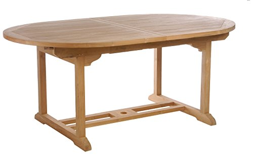 Teak Elzas Oval Extension Table made by Chic Teak -