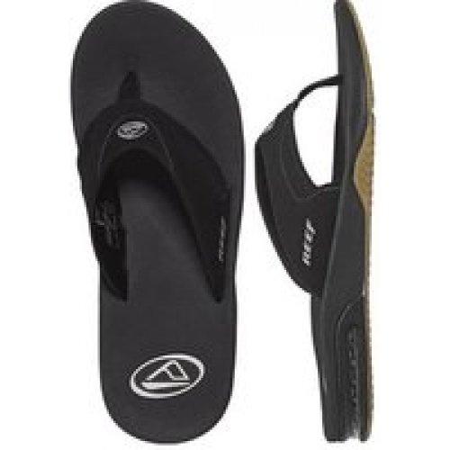 Reef Fanning, Men's Athletic Sandals, Black (Schwarz (Black (Black/Silver)), 8 UK
