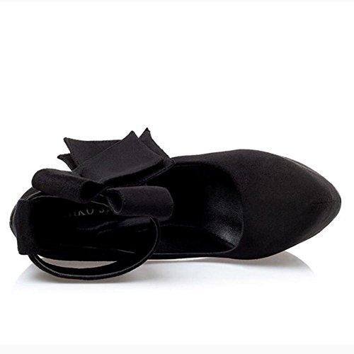 Pointues amende Imperméable Nuit à De De La Talons L'Eau De black Chaussures Peu Femmes La BoîTe Hauts Profonde Table De Danse avec tq6xZ8Rw
