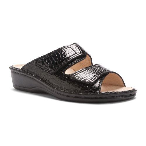 Finn Comfort Donna Sandaika Sandalo Nero Croc
