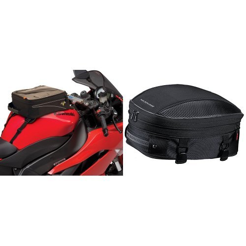 Nelson-Rigg CL-904 Black Standard Tank/Tail Bag and  CL-1060-S Black Sport Tail/Seat Pack Bundle