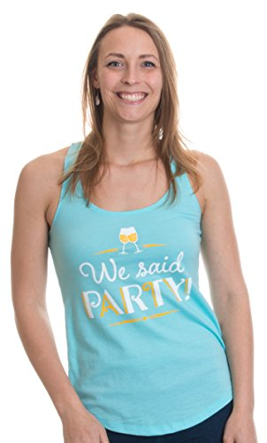 We Said Party! | Bridal Party - Turquoise - Bachelorette Bridal Party Matching Tank Tops-(Turquoise, S)