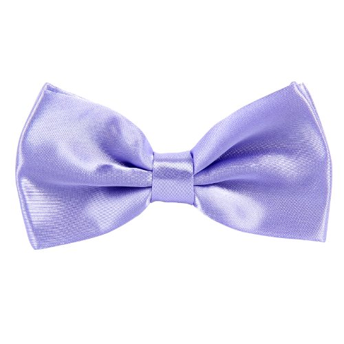 Party CellDeal Purple Plain New Mens Wedding Pure Bow Bowtie Light Polyester Pre Tied Tie ZRZznxw