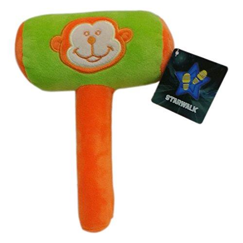 Star Walk MBE-SWK157 Monkey Face Hammer Plush, Green/Orange