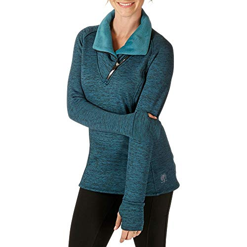 SnowAngel Minx Snuggle Scarf Zip T - Women's Peacock Medium ()