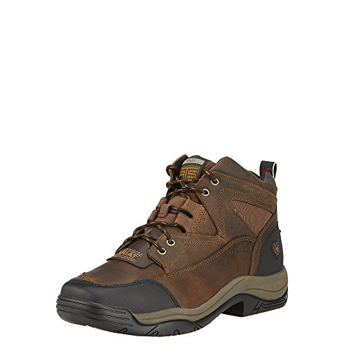 Image of Ariat Men's Terrain Wide Square Toe Steel Toe Work Boot, Distressed Brown, 7.5 D US