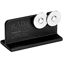 Rada Cutlery Quick Edge Knife Sharpener – Stainless Steel Wheels Made in the USA