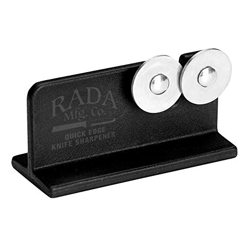 (Rada Cutlery Quick Edge Knife Sharpener - Stainless Steel Wheels Made in the USA)