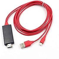 Revemx Tableta de teléfono de 1,8 m al Cable Adaptador HDMI AV para iPad para iPhone y Play