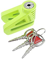 D Dolity Heavy Duty Motorcycle Disc Brake Lock, Anti-Theft Wheel Padlock for Motorcycles Scooter Moped Motorbike (Green)
