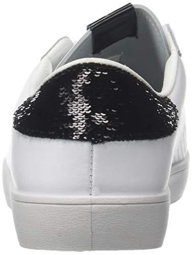 Deportivo Negro Zapatillas Piel Victoria lentejuelas Para negro 10 Mujer gvOCBqwd