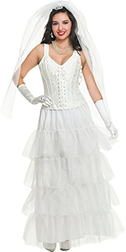 Charades Women's Deluxe Newlywed Bride Costume, White X-Large