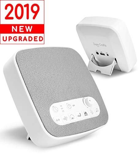 White Noise Machine Maker - Sleep Sound Machine Generator For Sleeping - Natural Sounds Including White-Noise Ocean Thunder & Lullaby for Kids Babies Adults Relaxing Home Office Baby USB Port