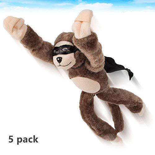 (CARESHINE 5 Set of Flingshot Monkey Slingshot Flying Stuffed Screaming Monkey Xmas Gift,11.5''H )