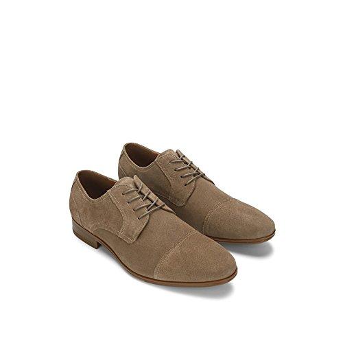 Zapato De Ante Kenneth Cole Deter-min-ed Suede - Hombre - Taupe