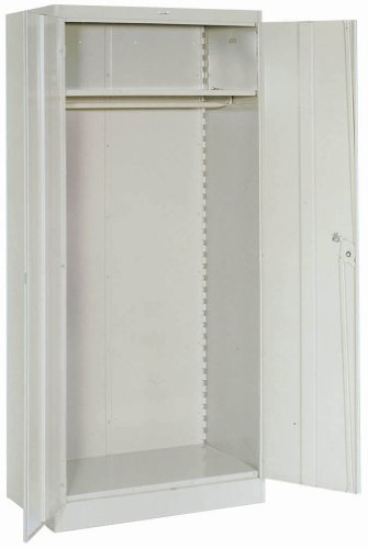 (Lyon PP1096 1000 Series Wardrobe Cabinet with 1 Full Shelf and Coatrod, Steel, 36