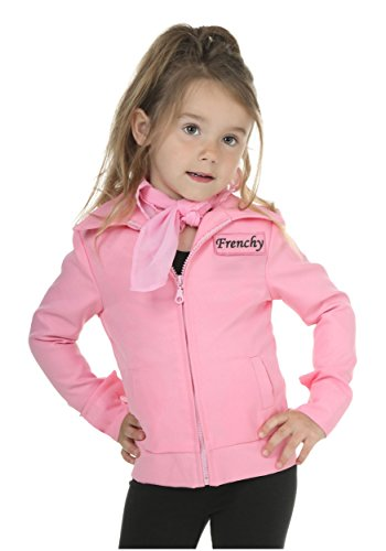 [Bayi Co. Authentic Pink Ladies Jacket 4t] (Frenchy Pink Ladies Costume)