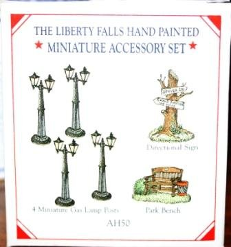 Liberty Falls Miniature Pewter Accessory Set; AH50 from The Ameriana Collection (History Lamp Bankers)