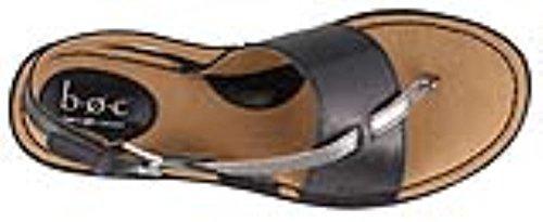 Boc Kvinna Lowery Läder Delad Tå Tillfälliga Slingback Sandaler Svart / Tenn