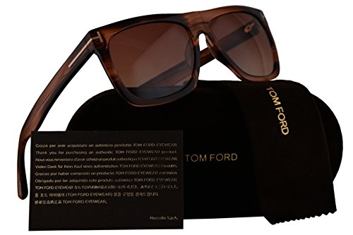 Milano Round Handles (Tom Ford FT0513 Morgan Sunglasses Red Brown Havana w/Red Brown Gradient Lens 68T TF513)