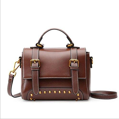 à 21 en Sac Taille Bag Vintage Sac 5cm Messenger Main à Femme bandoulière 16 Femmes 9 pour Sac Brown Cuir bandoulière à magnétique qF8IFwU