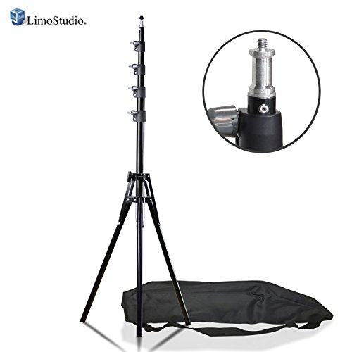 LimoStudio Max 94 inch Height Photography Lighting Stands Professional Studio Light Stand 4-Section for Photo Studio Reflectors, Softboxes, Lights, Umbrellas, Backgrounds, AGG2412 by LimoStudio