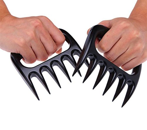 BBQ Bear Claws For Pulled Pork, BBQ Meat Shredder Claws By TraAcc, Grill Smoker Bear Paw, Meat Claws, Smoked Barbecue Grilling Accessories (Black)