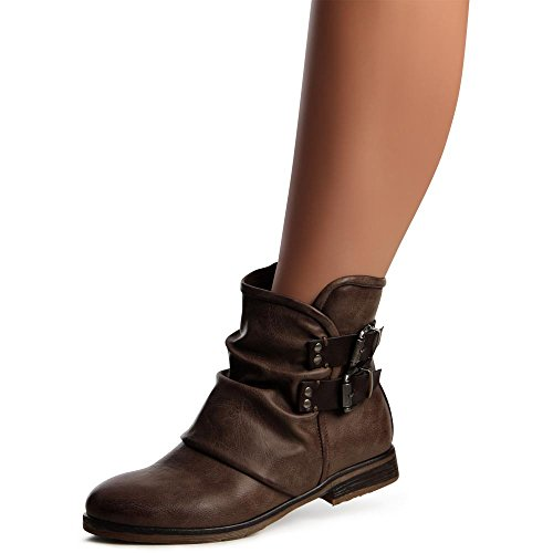 para marrón marrón topschuhe24 topschuhe24 para mujer mujer topschuhe24 Botas Botas nZq01Iq