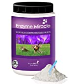 ENZYMES FOR DOGS and CATS -- The look of a healthy pet is unmistakable, power up his digestion with Enzyme Miracle®-a complete plant-based enzyme supplement. Increase his nutrient absorption at each meal with one economical scoop. Complete su...