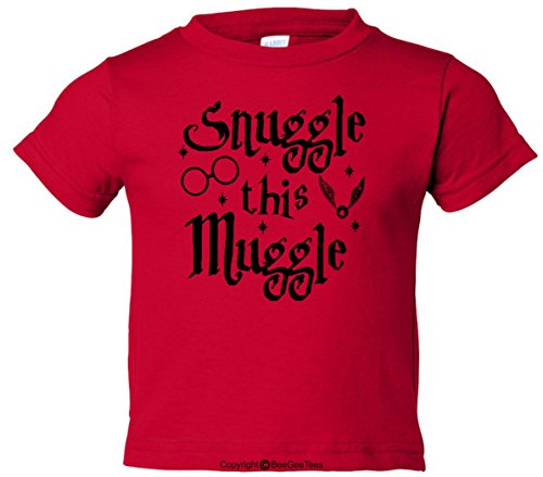 BeeGeeTees Snuggle This Muggle Wizard Funny Toddler T-Shirt
