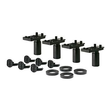 Ikea METOD Beine in schwarz; höhenverstellbar; (8cm); 4 Stück ...