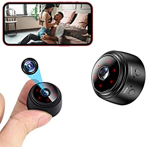 Flashandfocus.com 41SPP9a-5lS._SS300_ Mini Spy Camera WiFi Small Wireless Baby Monitor Home Security Surveillance Nanny Cam with Live Feed Phone APP Night…