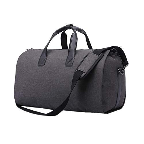 LiboboCarry On Garment Bag for Business Trips Shoulder Strap Independent Shoes Pocket (B)