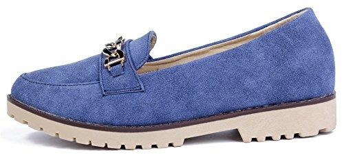 Antid Femme Moccasin Semelles Shoes Nubuck Plat Ageemi vpnaYRWa