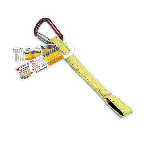 Super Anchor Safety 6009 Web Lanyard with 5006 Aluminum Carabineer & Loop End, 18''