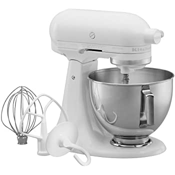 kitchenaid 4 1 2 quot red stainless steel amazon com kitchenaid ksm90ww 300 watt ultra power 4 1 2 quart stand mixer white on white 104