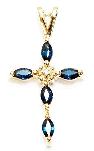14k Gold & Diamond Cross - 9