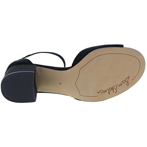 Sam Edelman Women's Susie Heeled Sandal, Black Suede, 10 M US Black Suede