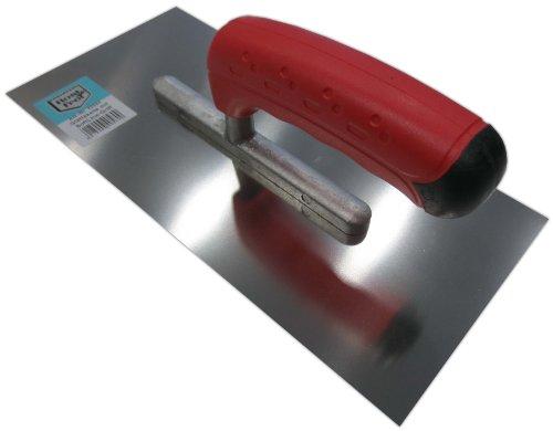 Glättekelle 280x130mm Edelstahl rostfrei Softgriff Aufziehplatte Traufel Abzieher Glättkelle